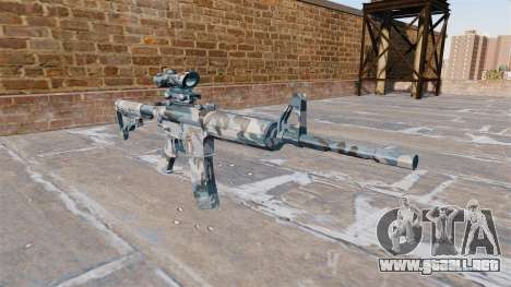 Automático carabina MA nieve Derretida Camo para GTA 4