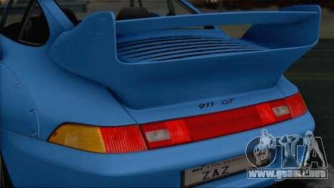 Porsche 911 GT2 (993) 1995 V1.0 SA Plate para vista inferior GTA San Andreas