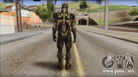 NanoSuit Skin para GTA San Andreas segunda pantalla