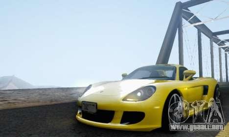 Porsche Carrera GT 2005 para visión interna GTA San Andreas