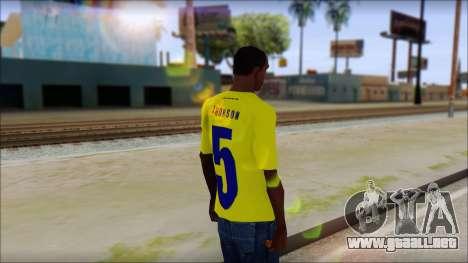T-Shirt Colombia para GTA San Andreas segunda pantalla