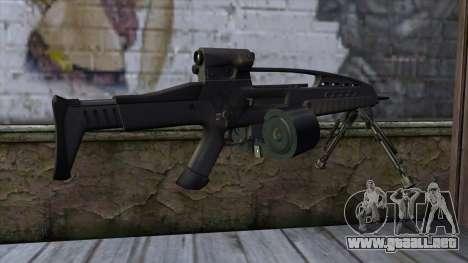 XM8 LMG Black para GTA San Andreas segunda pantalla