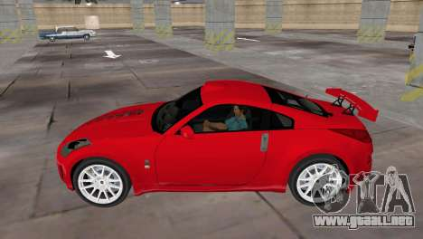 Nissan 350z Tuned para GTA Vice City vista lateral izquierdo