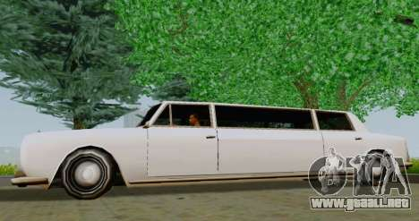 Stafford Limousine para GTA San Andreas left