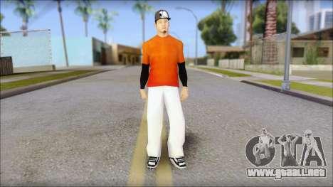 Polera Naranja con Gorro para GTA San Andreas