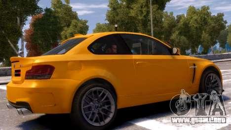 BMW 1M para GTA 4 Vista posterior izquierda