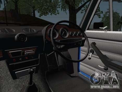 VAZ 21061 para visión interna GTA San Andreas