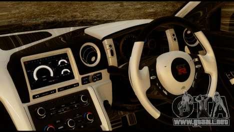 Nissan GT-R V2.0 para GTA San Andreas vista posterior izquierda