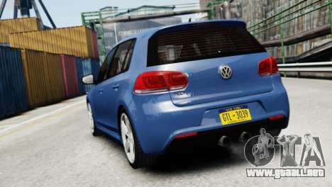 Volkswagen Golf R 2010 para GTA 4 Vista posterior izquierda