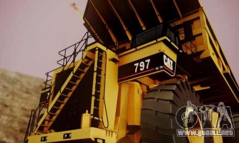 Caterpillar 797 para la visión correcta GTA San Andreas