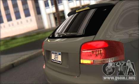 Audi S3 2006 Custom para GTA San Andreas vista hacia atrás