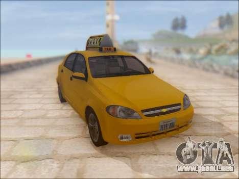 Chevrolet Lacetti Taxi para visión interna GTA San Andreas