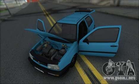 Volksvagen Golf Mk3 para visión interna GTA San Andreas