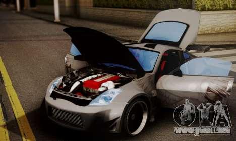 Nissan 350z Angel Beast Itasha Edition para GTA San Andreas vista posterior izquierda