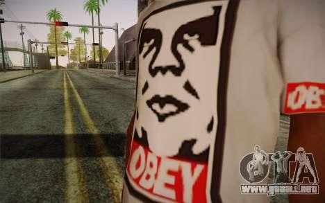 Obey Shirt para GTA San Andreas tercera pantalla