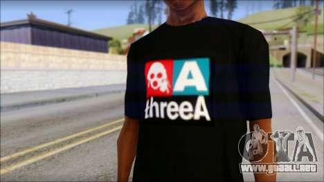 ThreeA T-Shirt para GTA San Andreas tercera pantalla