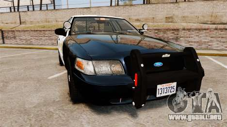 Ford Crown Victoria Sheriff [ELS] Slicktop para GTA 4