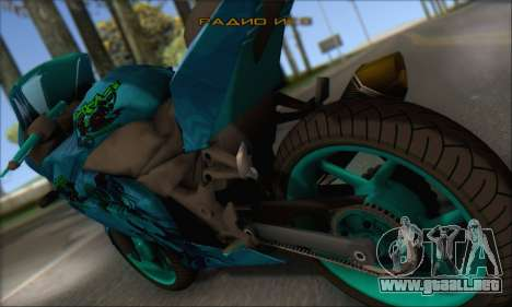 Kawasaki Ninja 250 RR Highschool DxD para GTA San Andreas left