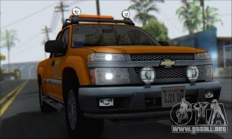 Chevrolet Colorado Cleaning para la visión correcta GTA San Andreas