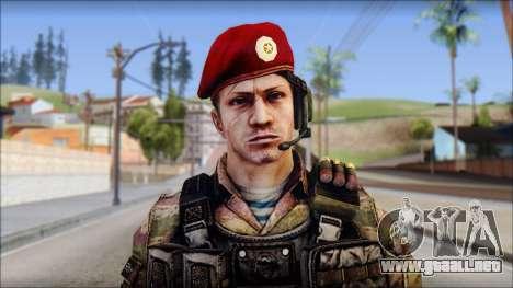 Forest GRU Vlad from Soldier Front 2 para GTA San Andreas tercera pantalla