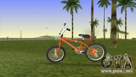 BMX from GTA San Andreas para GTA Vice City vista lateral izquierdo
