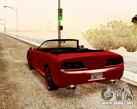 Bufón Convertible para GTA San Andreas vista posterior izquierda