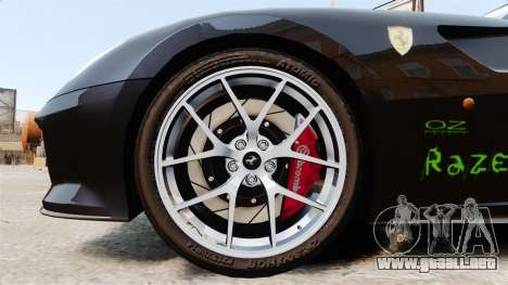 Ferrari 599 GTO PJ1 para GTA 4 vista hacia atrás