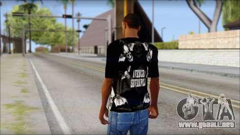 A7X Deathbats Fan T-Shirt Black para GTA San Andreas segunda pantalla
