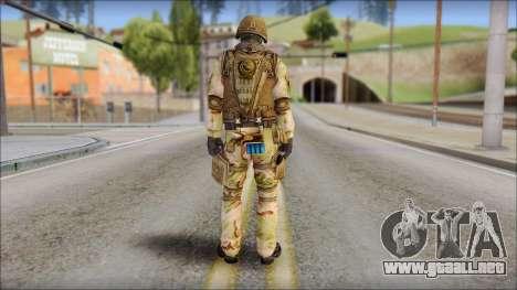 Desert GIGN from Soldier Front 2 para GTA San Andreas segunda pantalla