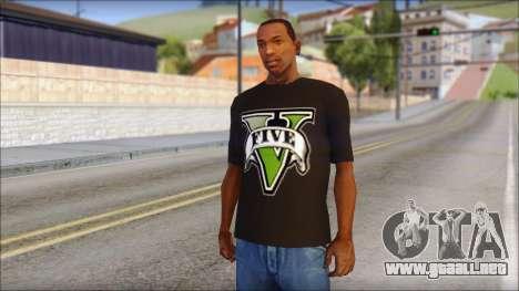 GTA 5 T-Shirt para GTA San Andreas