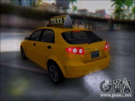Chevrolet Lacetti Taxi para vista inferior GTA San Andreas