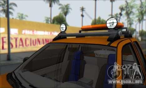Chevrolet Colorado Cleaning para la vista superior GTA San Andreas