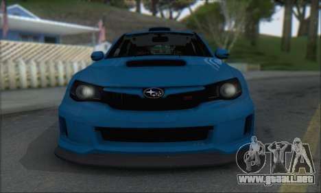 Subaru Impreza WRX STI 2010 para GTA San Andreas left