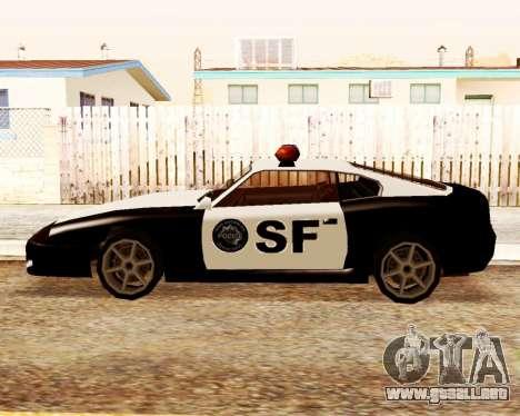 Jester Police SF para GTA San Andreas left