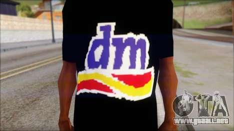 DM T-Shirt Drogerie Market para GTA San Andreas tercera pantalla