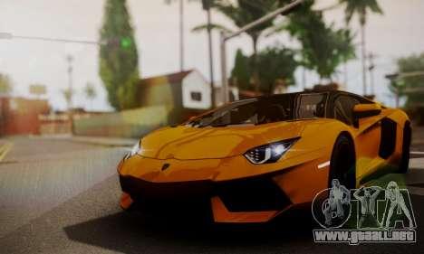 Lamborghini Aventador TT Ultimate Edition para GTA San Andreas vista hacia atrás