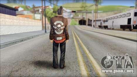 Biker from Avenged Sevenfold 3 para GTA San Andreas segunda pantalla