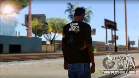 GTA 5 T-Shirt para GTA San Andreas segunda pantalla