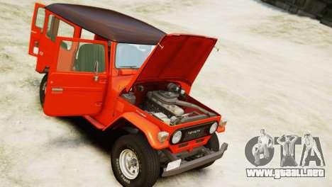 Toyota FJ40 Land Cruiser 1978 Beta para GTA 4 visión correcta