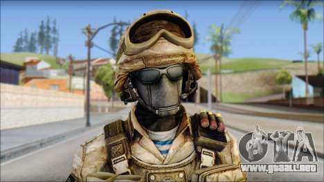 Desert GRU from Soldier Front 2 para GTA San Andreas tercera pantalla
