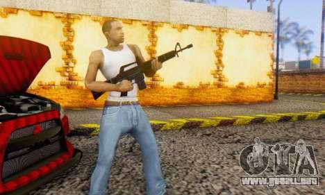 Abstract M16 para GTA San Andreas tercera pantalla