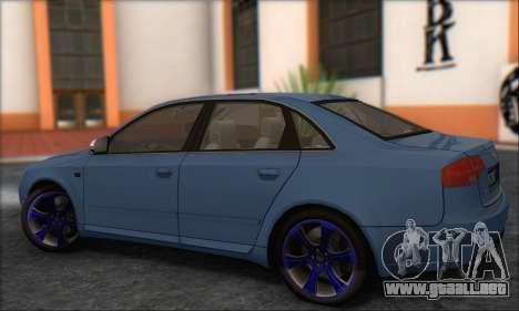 Audi S4 4.0 Quattro 2006 para la visión correcta GTA San Andreas