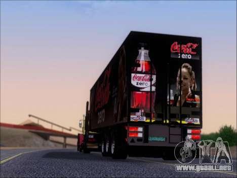 Trailer Chereau Coca-Cola Zero Camión para vista inferior GTA San Andreas