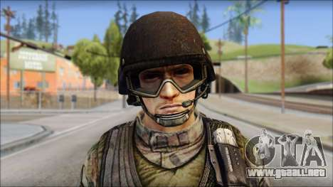Forest GROM from Soldier Front 2 para GTA San Andreas tercera pantalla