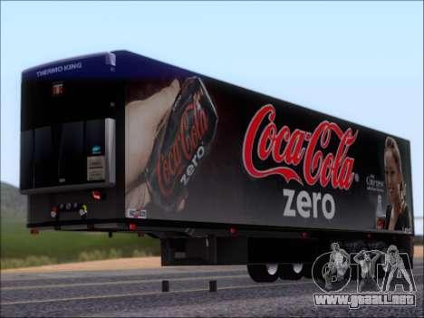 Trailer Chereau Coca-Cola Zero Camión para GTA San Andreas