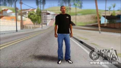 Black Izod Lacoste T-Shirt para GTA San Andreas tercera pantalla