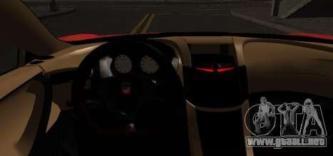 Spano Black para GTA San Andreas vista posterior izquierda