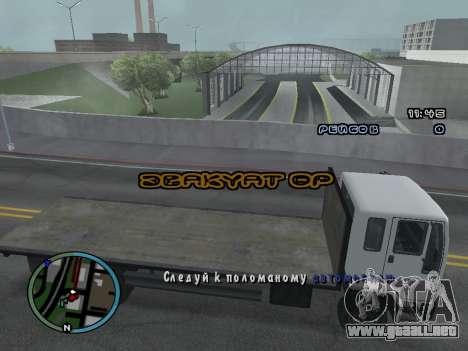 Evacuador de v1.0 para GTA San Andreas sucesivamente de pantalla
