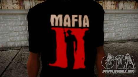 Mafia 2 Black Shirt para GTA San Andreas tercera pantalla