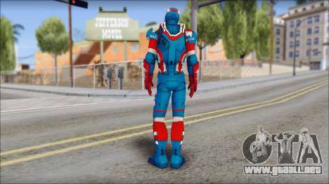 Iron Patriot para GTA San Andreas segunda pantalla